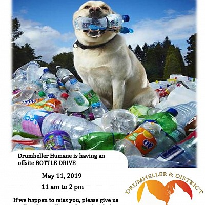 Bottle Drive May 11, 2019 11am to 2pm